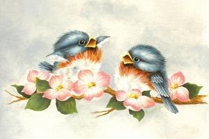 Love Is in the Air - Birds by Peggy Harris