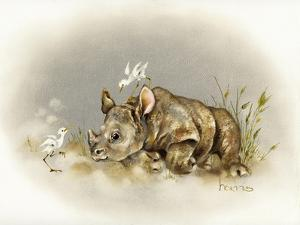 Rhino Baby by Peggy Harris