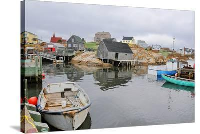 Peggy's Cove - Fishing Village--Stretched Canvas Print