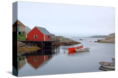 Peggy's Cove Harbour Cloudy--Stretched Canvas Print