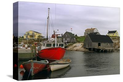 Peggy's Cove Harbour--Stretched Canvas Print