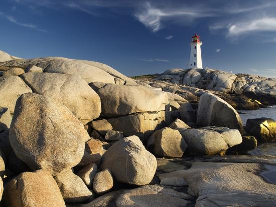 Peggy's Cove Lighthouse Nova Scotia, Canada.-Darwin Wiggett-Photographic Print