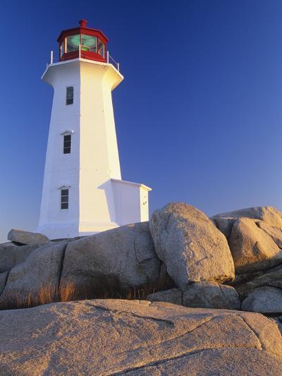 Peggy's Cove Lighthouse, Peggy's Cove, Nova Scotia, Canada-Miles Ertman-Photographic Print