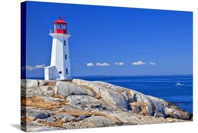 Peggy's Cove Lobster Boat--Stretched Canvas Print