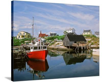 Peggy's Cove Nova ScotiaCanada--Stretched Canvas Print