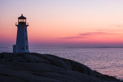 Peggy's Point Lighthouse and Rocky Coast at Dusk-Jonathan Irish-Photographic Print