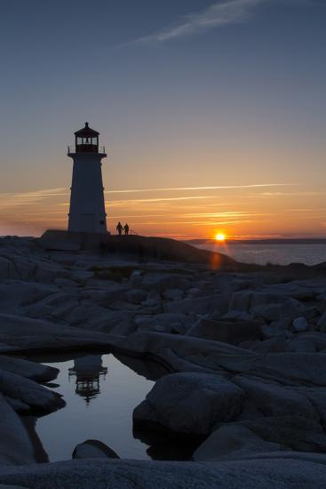 Peggy's Point Lighthouse at Sunset-Robbie George-Photographic Print