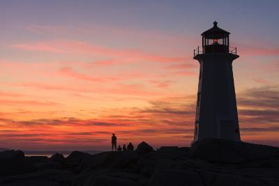 Peggy's Point Lighthouse in Silhouette at Sunset-Jonathan Irish-Photographic Print
