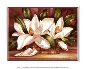 Blossoming Magnolias by Peggy Thatch Sibley