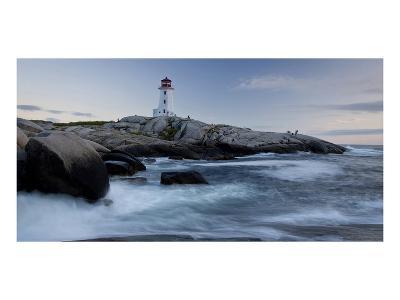 Peggys Cove Lighthouse Sunset--Art Print