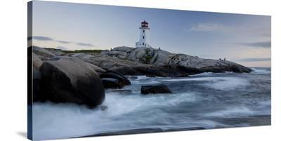 Peggys Cove Lighthouse Sunset--Stretched Canvas Print