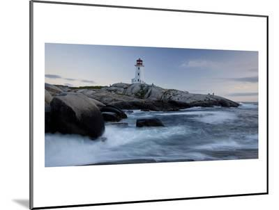 Peggys Cove Lighthouse Sunset--Mounted Print
