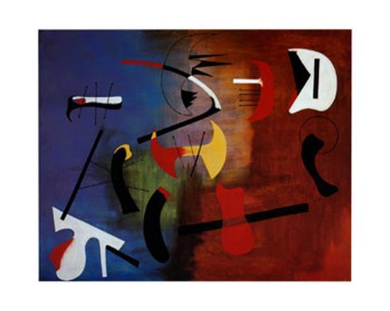 Peinture Composition-Joan Miro-Art Print