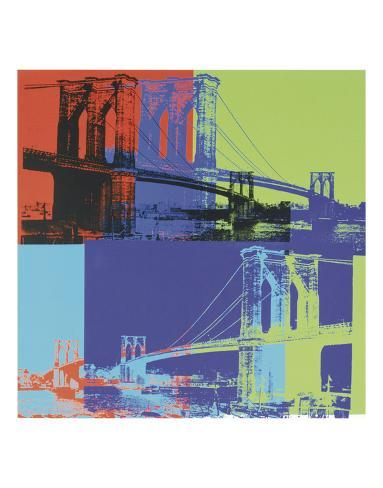 Brooklyn Bridge, 1983 (orange, blue, lime) Reproduction d'art