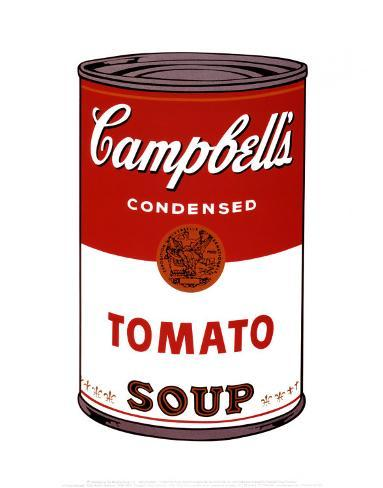 Soupe Campbell's I - Tomate, 1968 Reproduction d'art