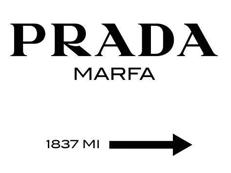 Panneau Prada Marfa Tableau sur toile