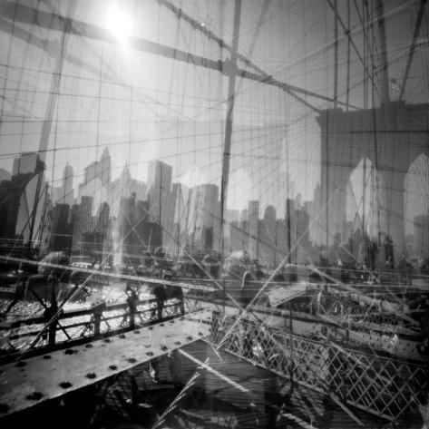Brooklyn Bridge Triple Reproduction d'art
