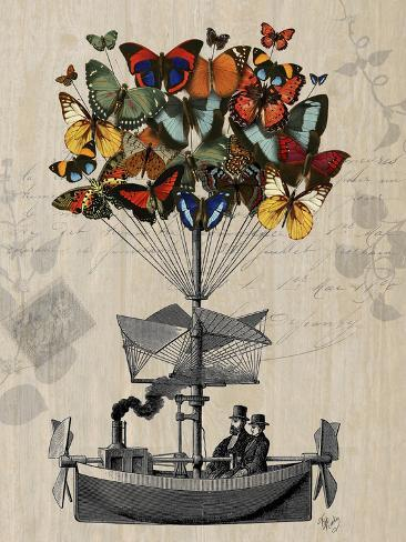 Butterfly Airship Reproduction d'art