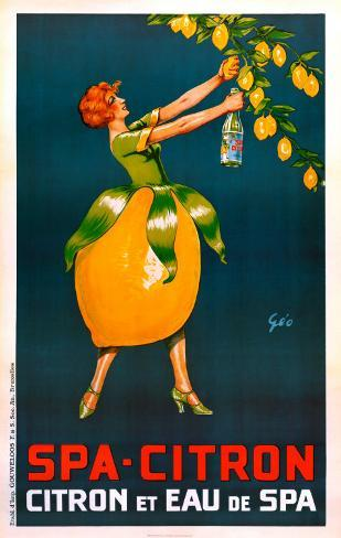 Spa-Citron Reproduction d'art