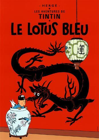 Le lotus bleu (1936) Reproduction d'art