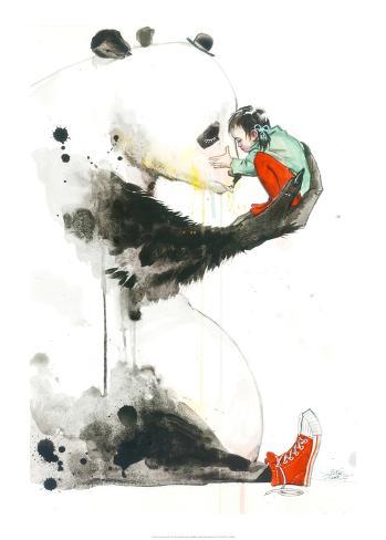 Panda Girl Reproduction d'art