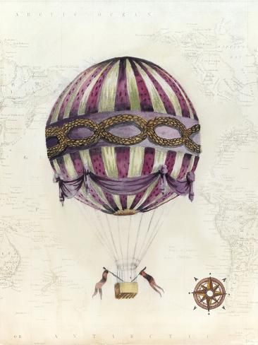 Vintage Hot Air Balloons I Reproduction d'art