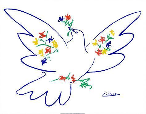 Favori Reproduction d'art 'La colombe de la paix' par Pablo Picasso - Art.fr YM27