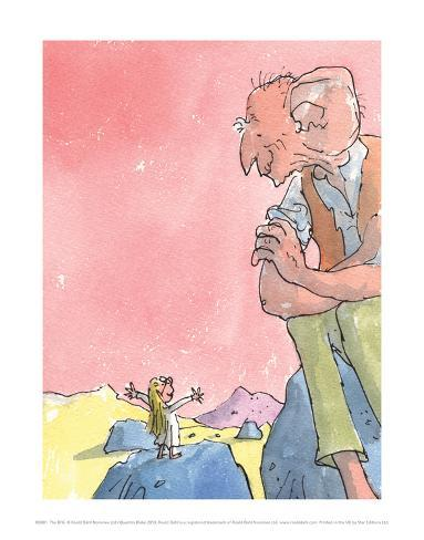 The BFG and Sophie Reproduction d'art