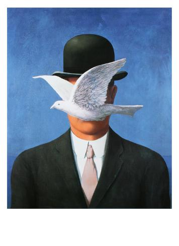 L'Homme au Chapeau Melon, c.1964 Reproduction d'art