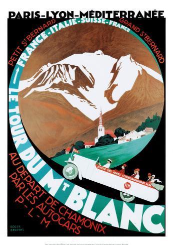 Tour du Mont-Blanc Reproduction d'art