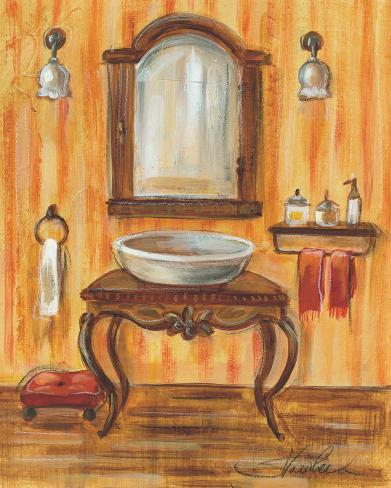 Reproduction d 39 art 39 tuscan bath ii 39 par silvia vassileva for Bathroom traduction