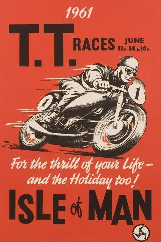 T.T. Races Isle of Man Poster Giclée
