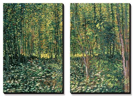 Bois et sous-bois, vers 1887 Tableau multi toiles