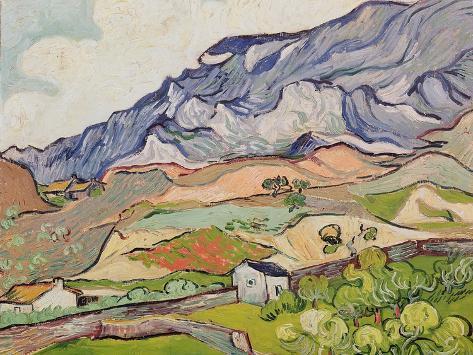 The Alpilles, 1890 Reproduction d'art