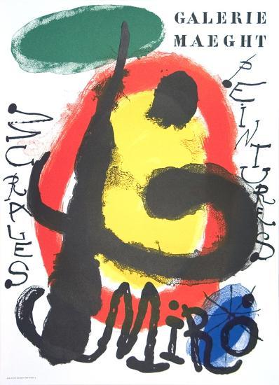Peintures Murales-Joan Miro-Serigraph