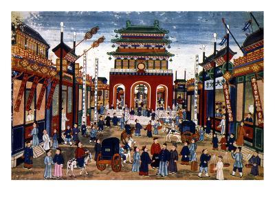 Peking: Commercial Center--Giclee Print