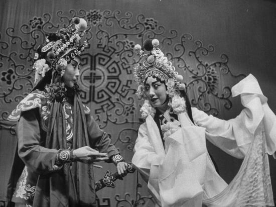 Peking Opera-Frank Scherschel-Premium Photographic Print