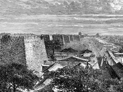 Peking's Old City Walls, China, 19th Century-Taylor-Giclee Print