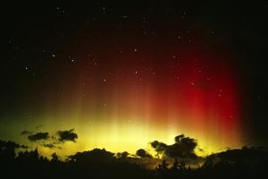 Aurora Borealis Or Northern Lights And Ursa Major by Pekka Parviainen