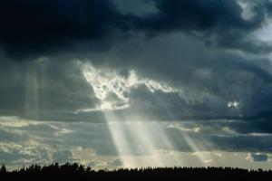 Sun's Rays Breaking Through Clouds. by Pekka Parviainen