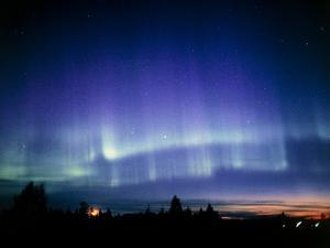 View of a Colourful Aurora Borealis Display by Pekka Parviainen