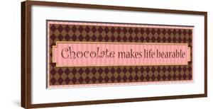 Chocolate makes life bearable by Pela Design