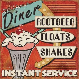 Diners and Drive Ins III by Pela Design
