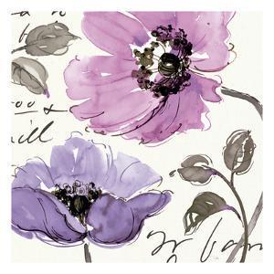 Floral Waltz Plum I by Pela Design
