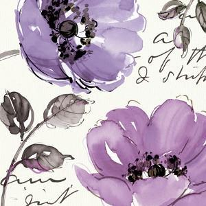 Floral Waltz Plum II by Pela Design