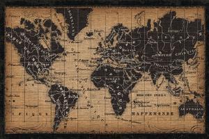 Old World Map by Pela Studio