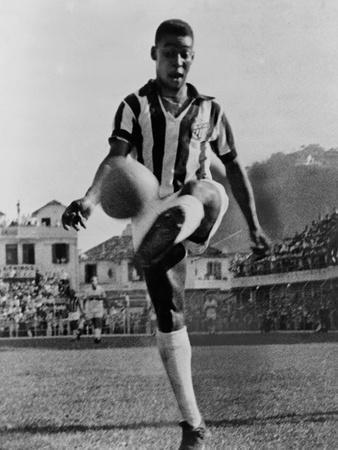 Pele, the Brazilian Soccer Champion in 1965--Photo