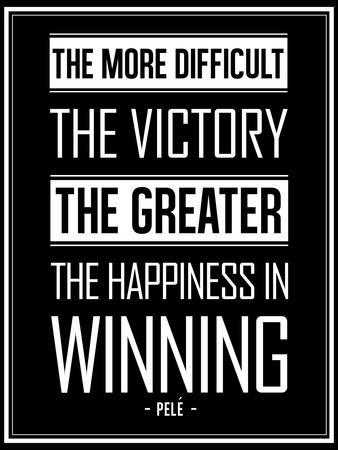 Pele Winning Quote--Art Print