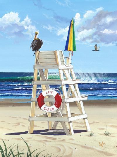 Pelican Perch-Scott Westmoreland-Art Print