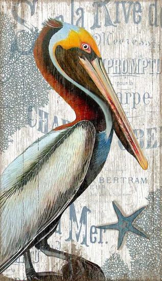 Pelican--Wood Sign